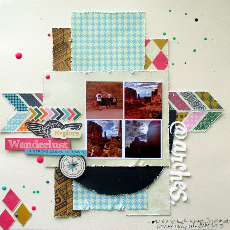 Scrappy Day in Paradise: @ Arches- March Craft Hoarders Anonymous Blog Hop.