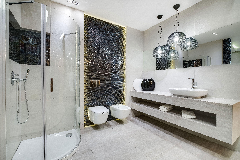 Ekspozycja Max Fliz łazienka Biały Czarny Chrom Kabina