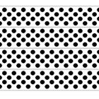 Bulletin Board borders with a white background and black polka dots. Makes a great display as is or when printed on coloured card or paper. ...