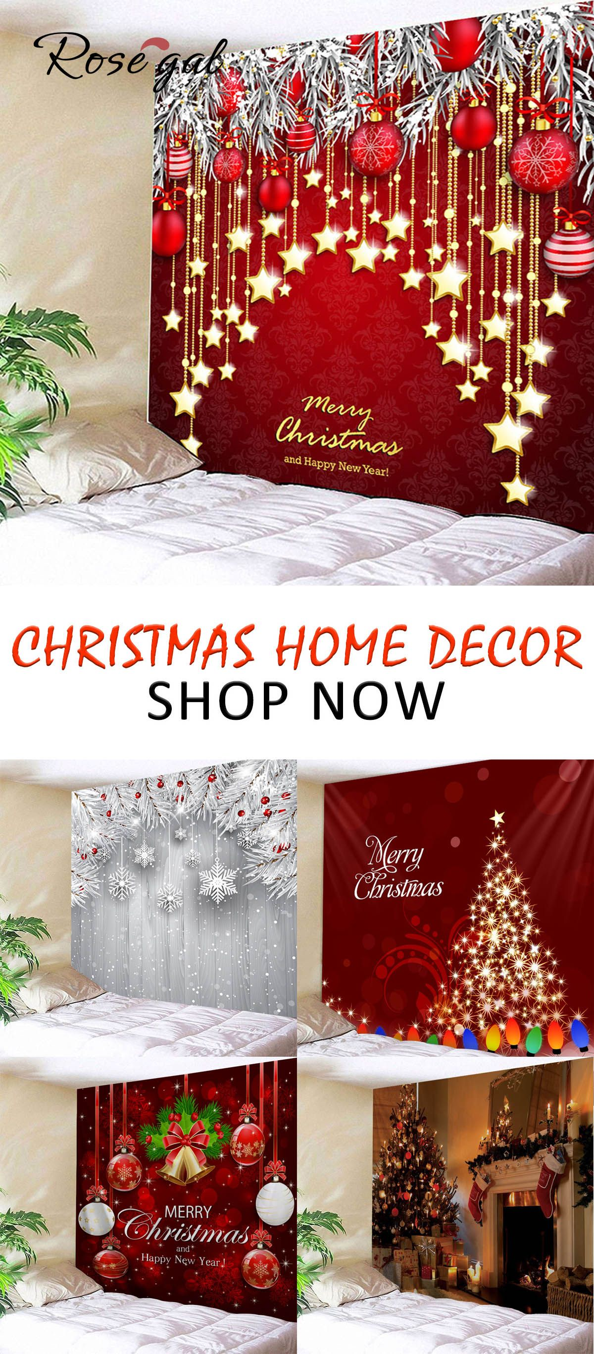 Use Code Free72 To Get Free Shipping Ends In 72 Hours Rosegal Christmas Home Decor Wall Decora Christmas Display Christmas Wall Decor Simple Christmas Decor