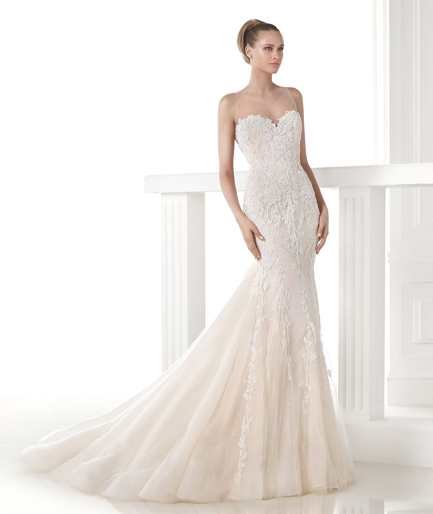 Pronovias wedding dresses mermaid with colors