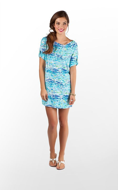 723c939f05877 Lilly Pulitzer Camie Dress in Resort White High Tide Toile Cute Summer  Dresses, Beach Dresses