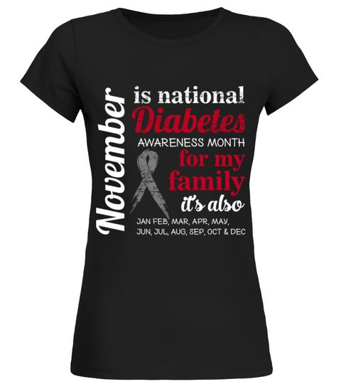 November National Diabetes Awareness Month T Shirt Birthday Gift