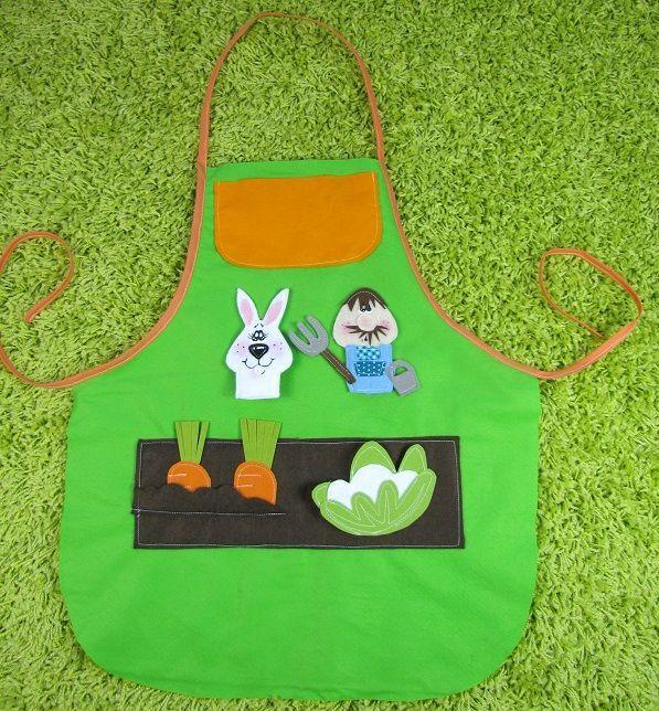 Tablier davantals contes apron art for kids et garden - Tablier jardinage enfant ...