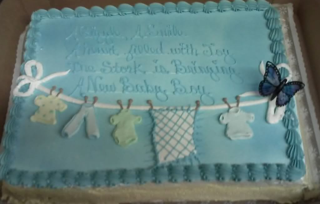 Baby Shower Sheet Cake Ideas Baby Shower Cakes Clothesline