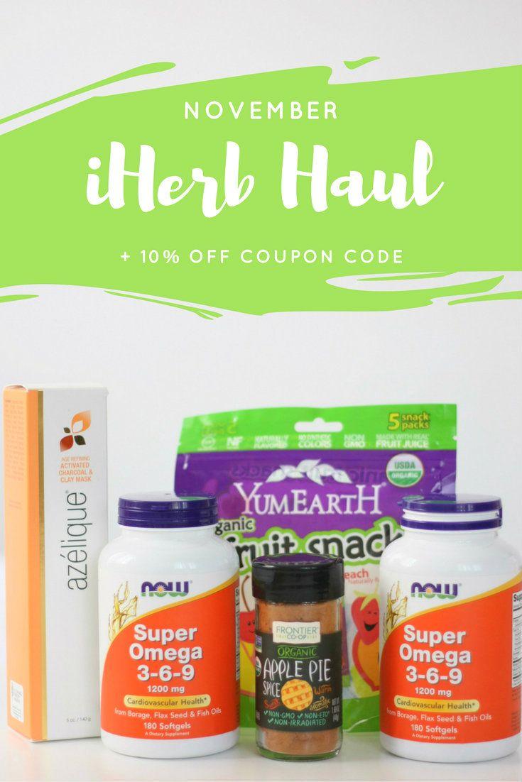 November iHerb haul iHerb Coupon Code