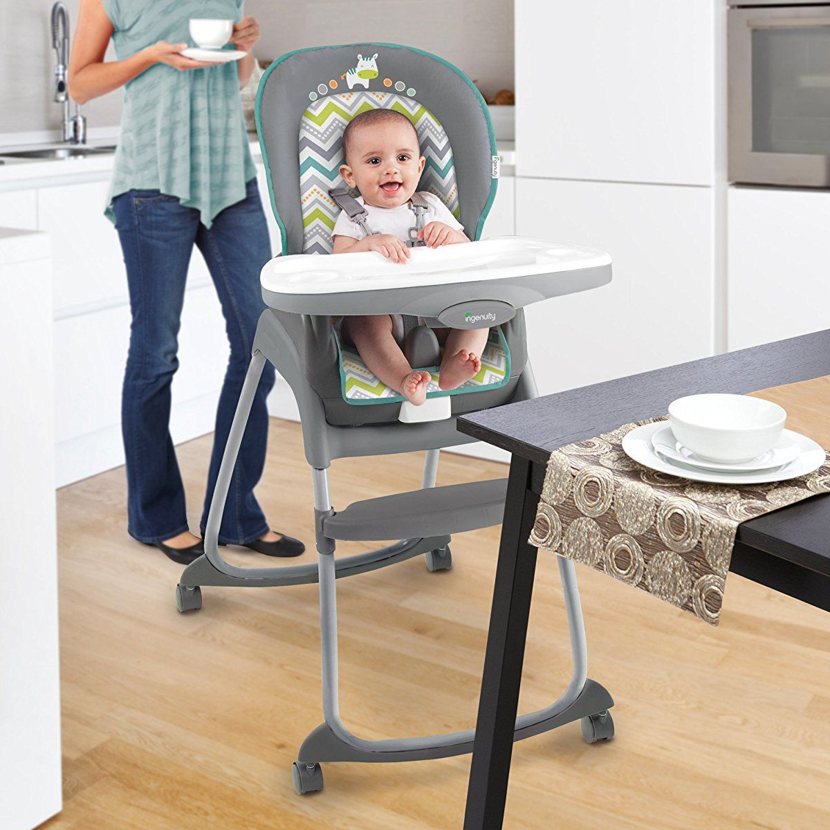 Ingenuity Trio 3 In 1 Ridgedale High Chair Grey Baby High Chair