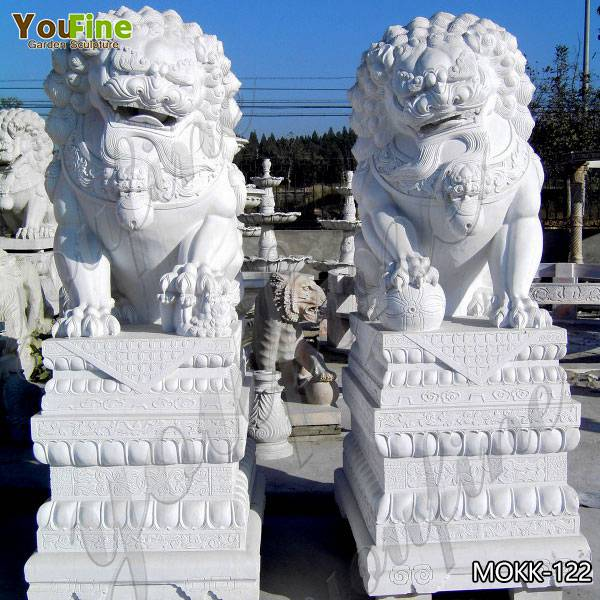 Paired Of Outdoor White Marble Chinese Lion Statues For Sale Mokk 122 In 2020 Chinese Lion Statue Statues For Sale Statue
