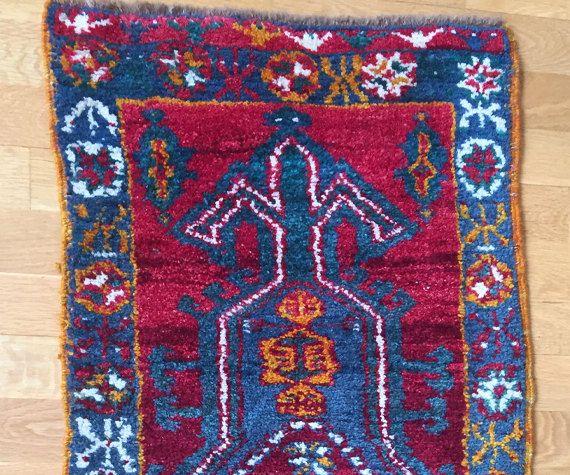 Ayranci Carpet Double Knotted Turkish Rug Vintage Antique