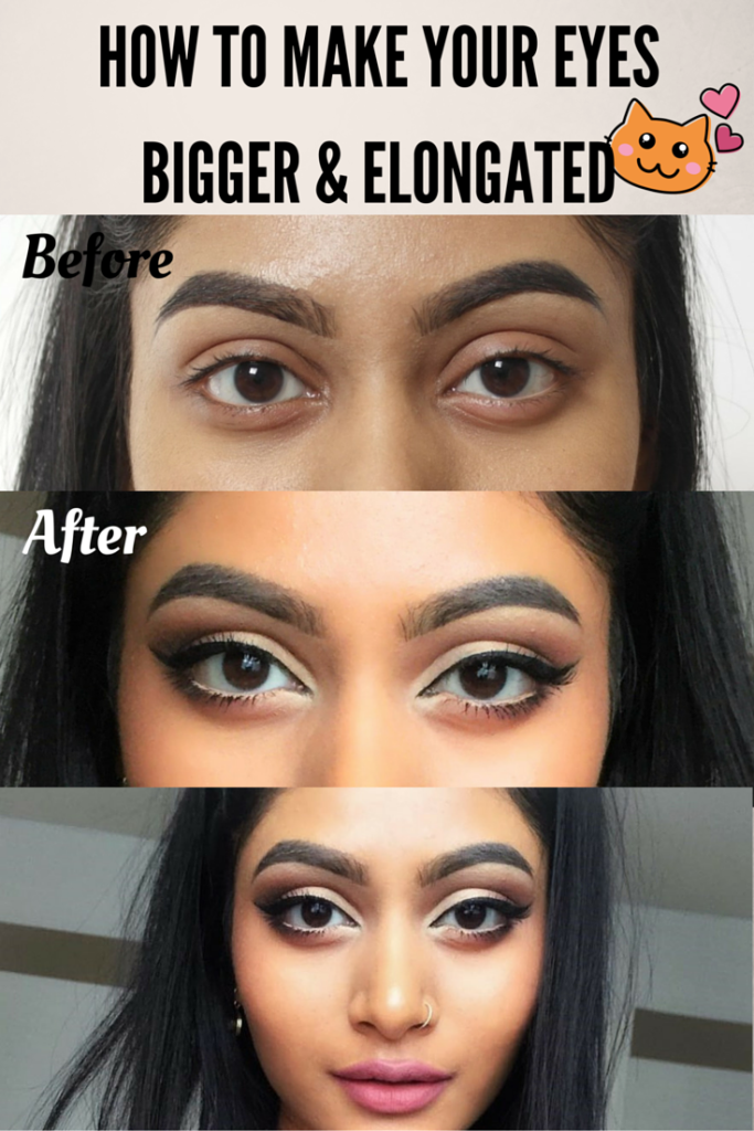 How To Make Your Eyes Look Bigger Elongated Big Eyes Makeup Makeup For Round Eyes Protruding Eyes