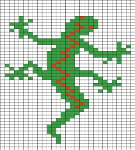 Quadrillage Pixel Animaux Lézard Cornicette Formen Grid Pixel