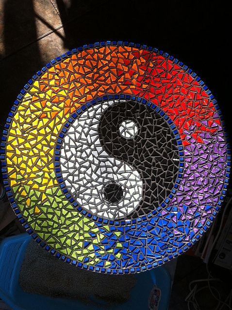 Madeleen Willer 167 Yin Yang Mosaics And Glass