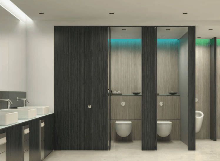 Commercial Restroom Partitions Durable And Attractive Restroom Design Cubicle Design Toilet Cubicle