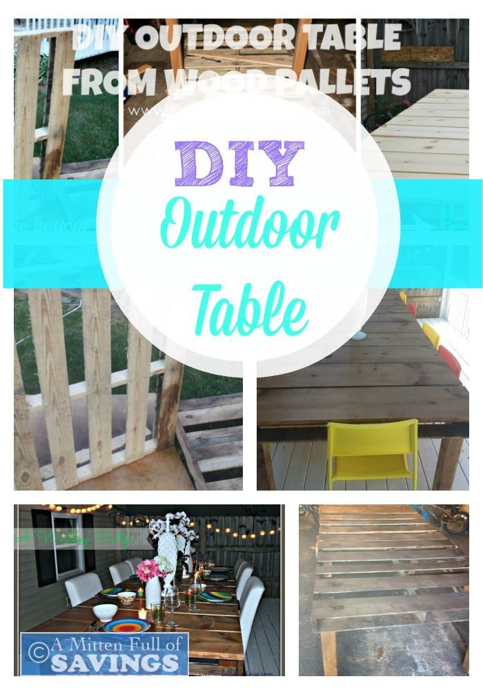 DIY Outdoor Dining Table From Wood Pallets Wood Pallets