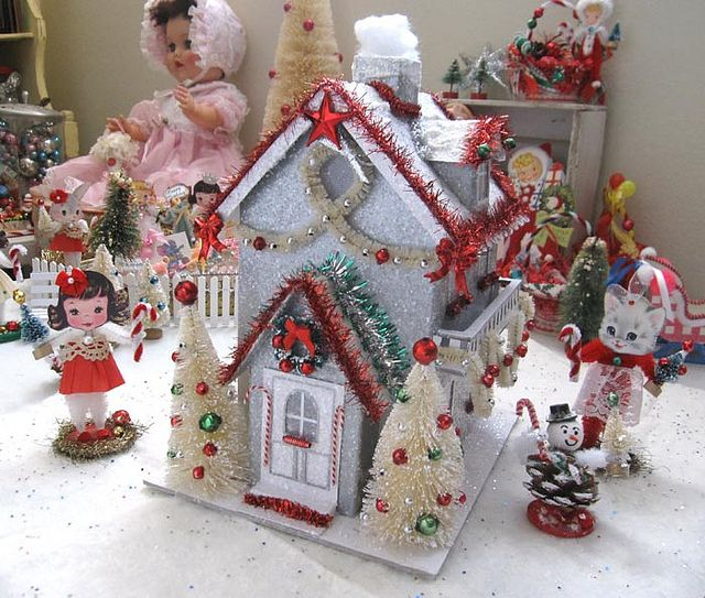 Christmas Village Putz House Christmas Village Houses Putz Houses Glitter Houses