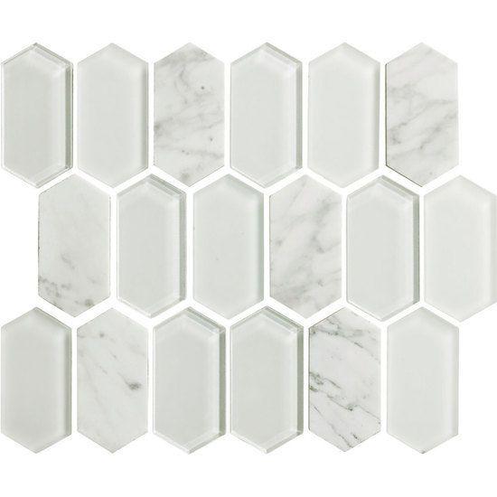 Moda Floors Interiors Atlanta Hexagonal Mosaic Stone Mosaic