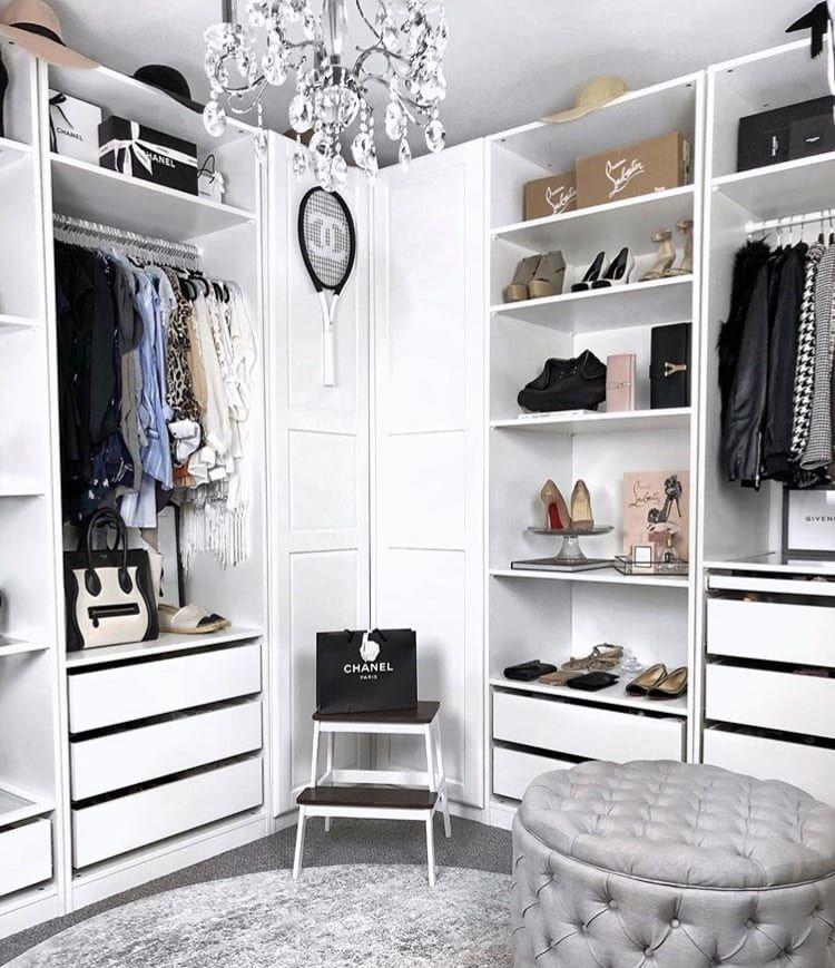 Stephanie Storage Ottoman Spare room closet, Ikea