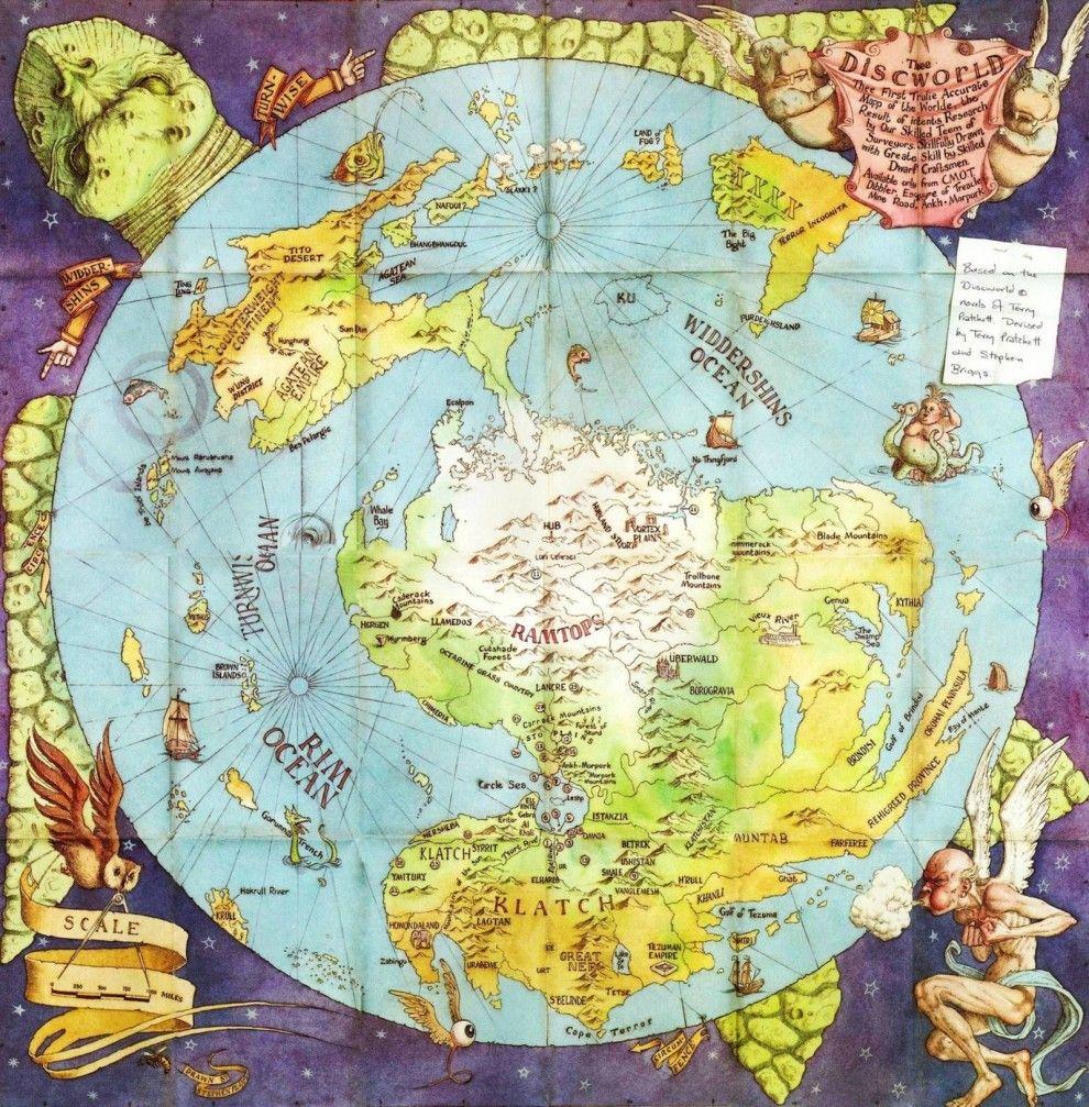 Die Karte Der Scheibenwelt Nach Den Romanen Von Terry Pratchett