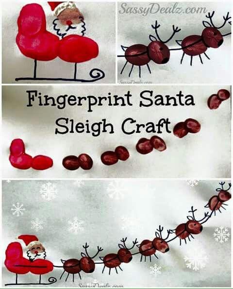 fingerabdr cke basteln weihnachten weihnachtsbasteln. Black Bedroom Furniture Sets. Home Design Ideas