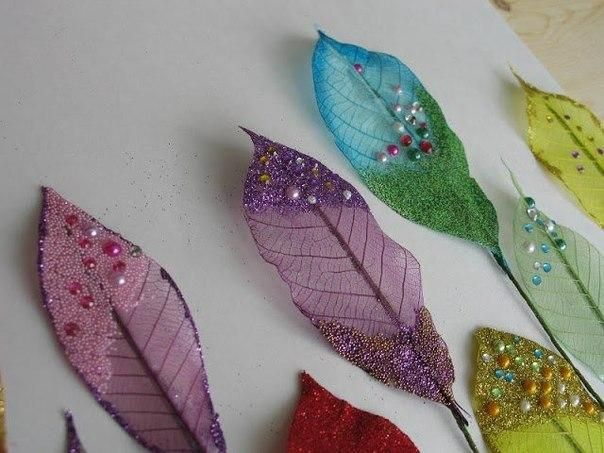 How to decorate skeletonized leaves - Art & Craft Ideas