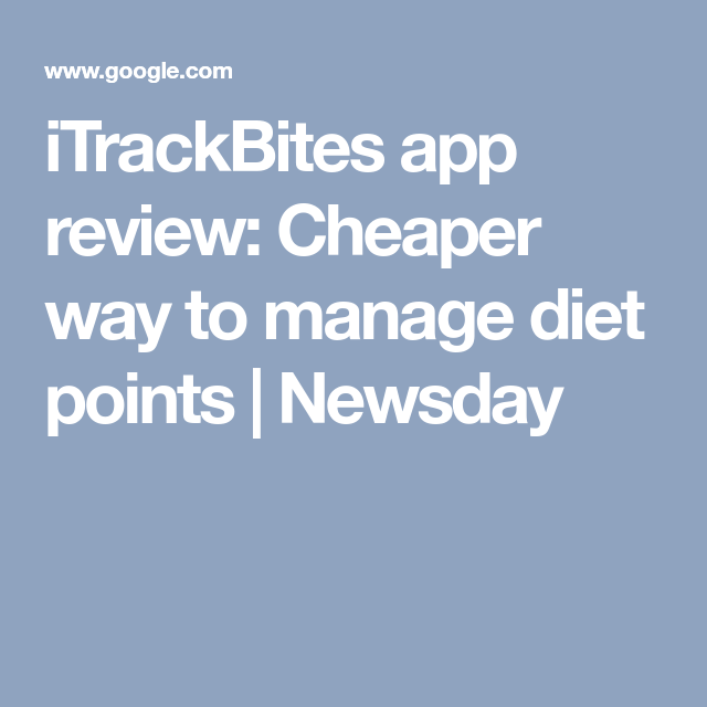 iTrackBites app review Cheaper way to manage diet points
