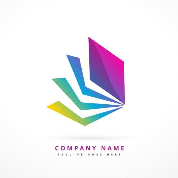 Logo abstracto con forma colorida vector  Free Vector