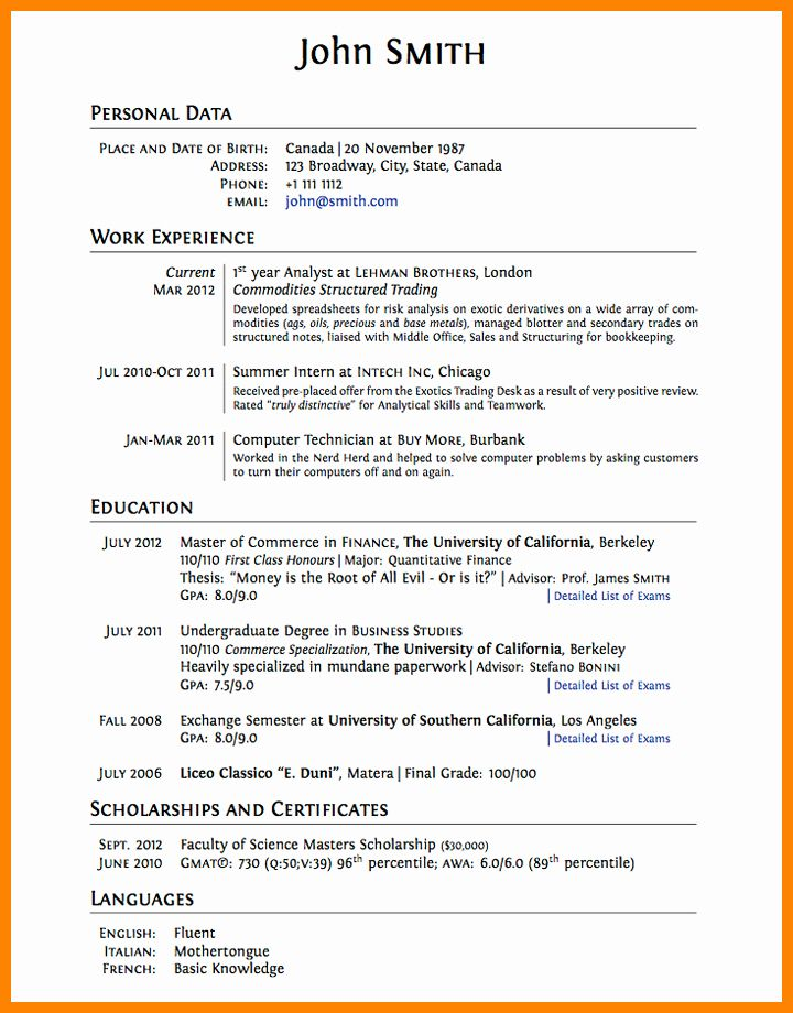 High School Dropout Resume Lovely 8 Cv Template for