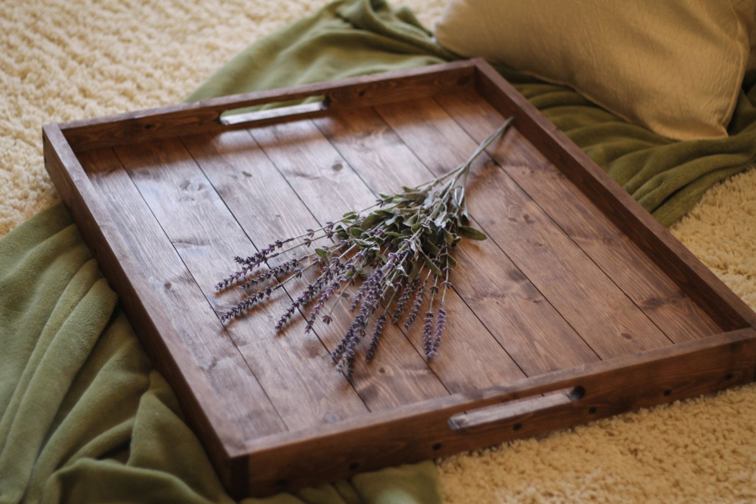 Rustic Wooden Ottoman Tray By Dunnrusticdesigns