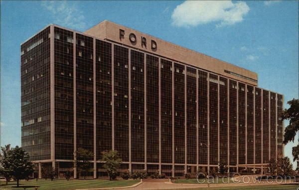1956 Ford World Headquarters Dearborn Mi Ford Motor Company Ford Motor International Style Architecture
