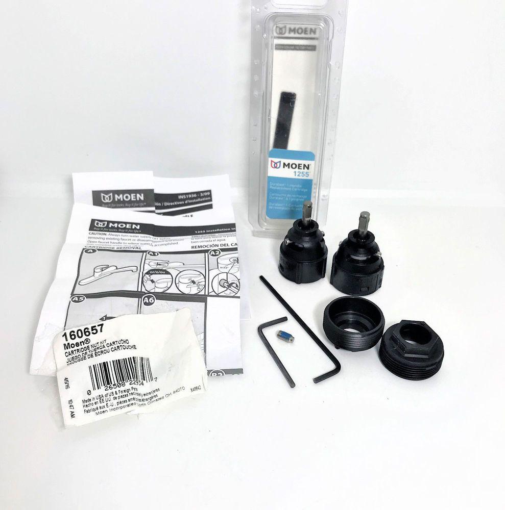 Moen 1255 Single Handle Replacement Duralast Cartridge Nut Kit Home Garden Home Improvement Plumbing Fixtures Ebay Moen Tool Box Kit