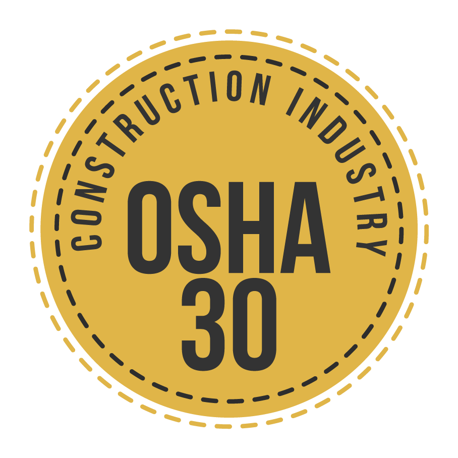 Topics in this course are consistent with OSHA Standard 29 CFR 1926