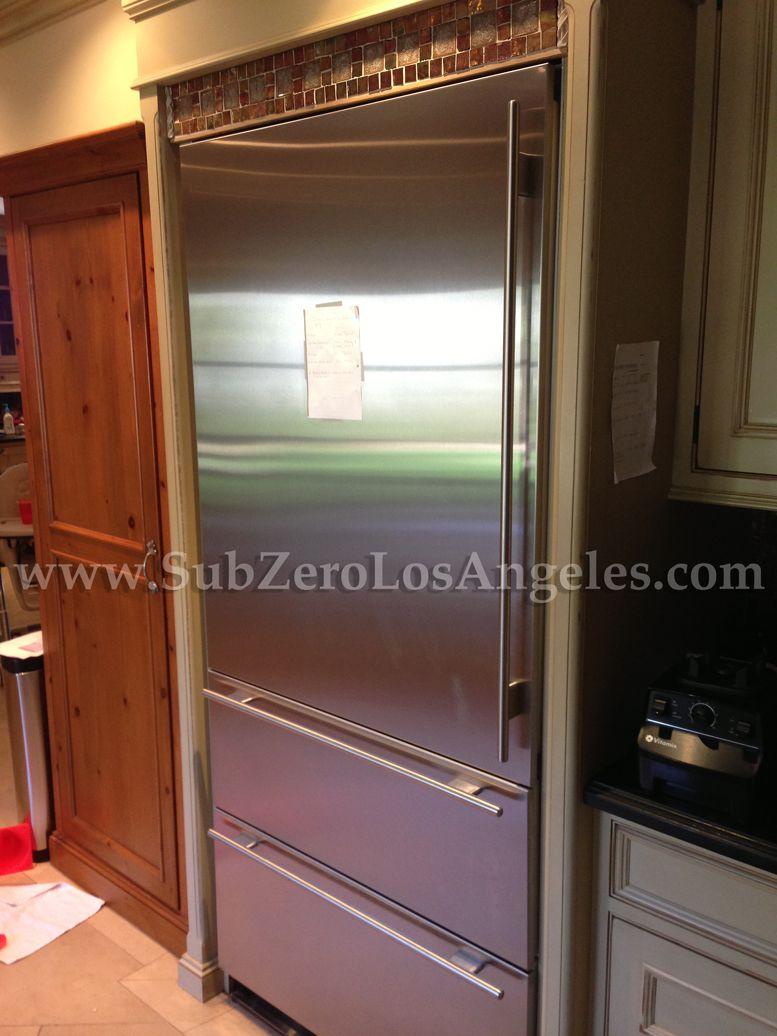 Subzero Refrigerator 700 Series Stainlesssteel Repaired In Bwood Ca 2017