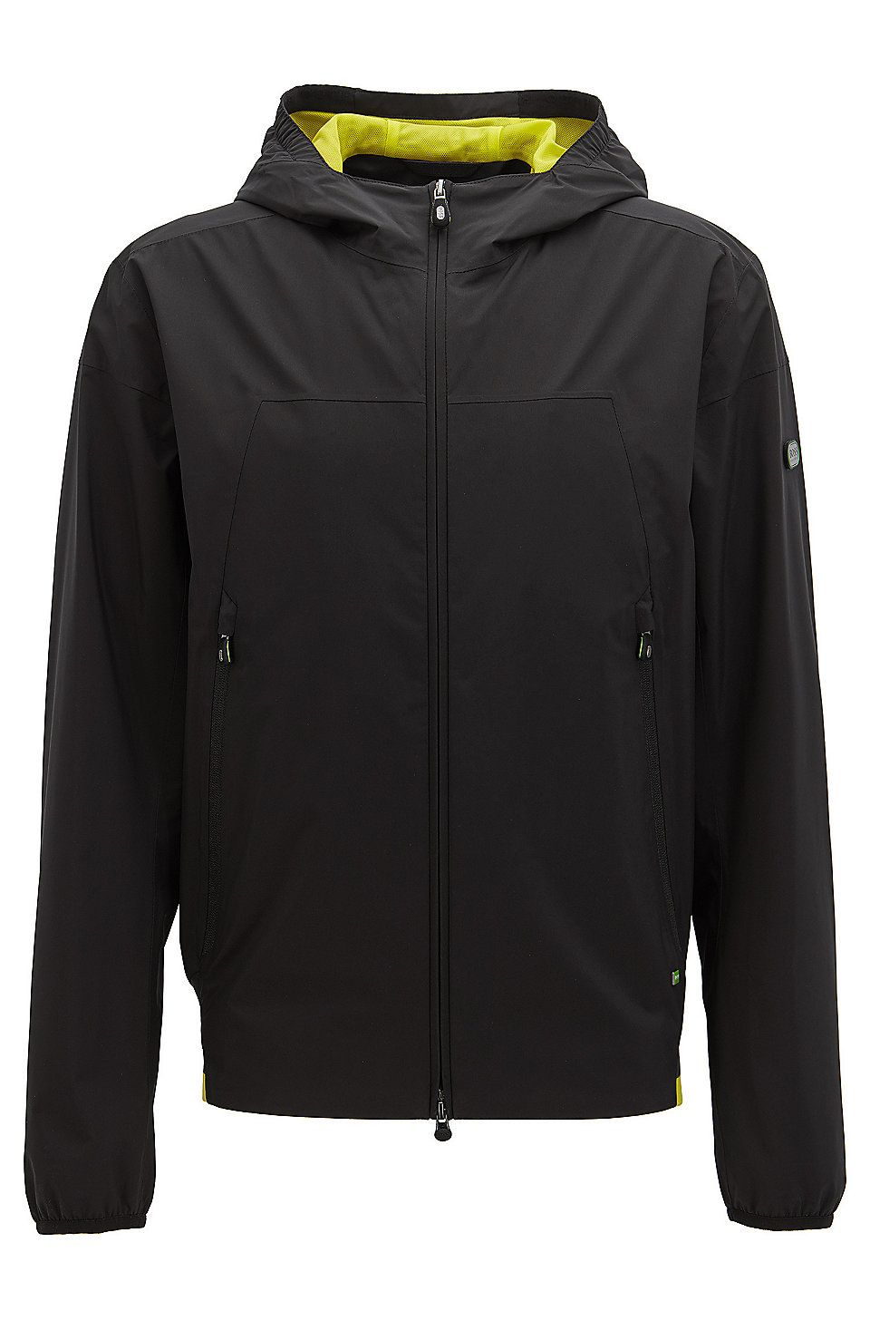 Hugo Boss Waterproof Jacket In Soft Touch Technical Fabric Black Casual Jackets From Boss For Men In The Official Hug Waterproof Jacket Jackets Casual Jacket [ 1456 x 960 Pixel ]