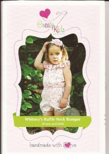 Whitneys Ruffle Neck Romper   Kids Clothing Patterns   Pinterest