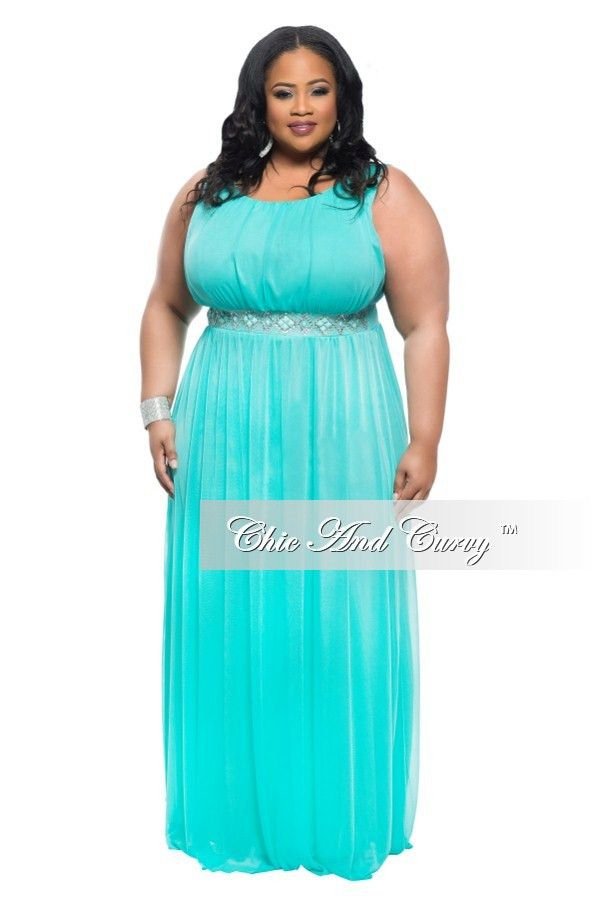 Plus Size Aqua Blue