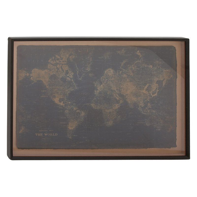Decmode gray world map wall art 14857 products pinterest decmode gray world map wall art the decmode gray world map wall art boasts an antique style world map print in colors of gray and brown on wood surrounded gumiabroncs Image collections