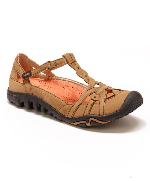 Look at this Oatmeal Leather Xterra Closed-Toe Sandal on #zulily today!