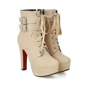 9436f6c12f8 ... mintrockco. High Heels Boots Shoes Fashion Spring Autumn Winter Women  Shoes
