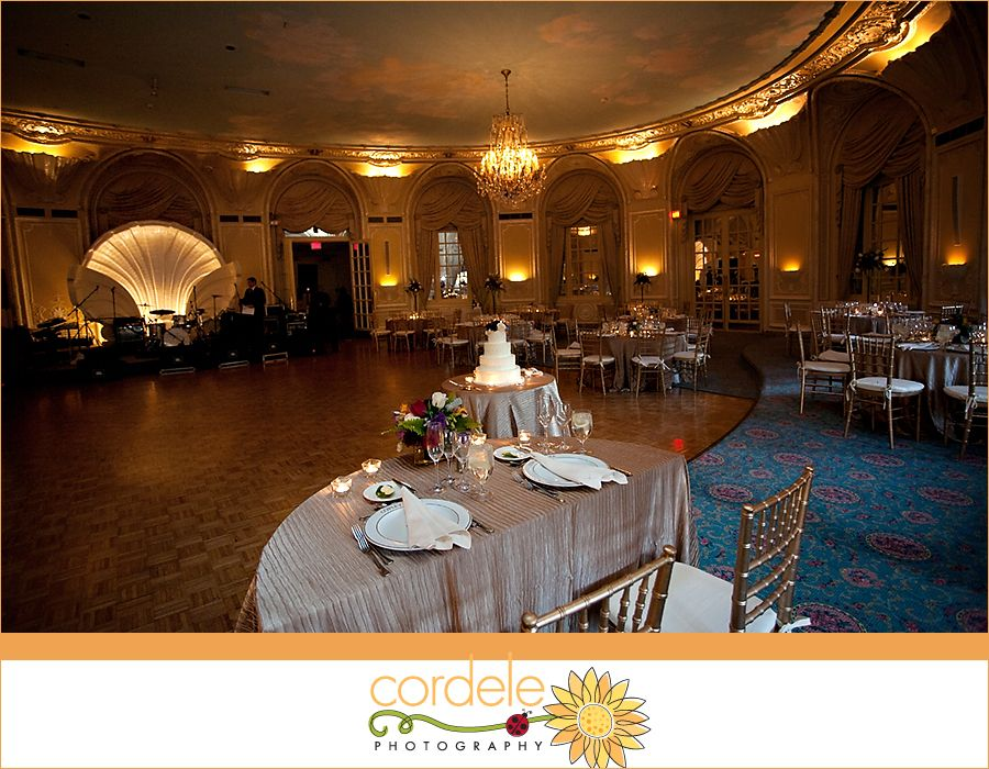 Beautiful wedding reception in the Oval Room at The ...