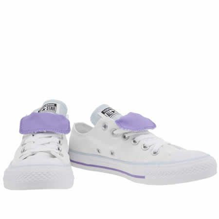 Converse CT Dbl Tongue Purple Womens Trainers -