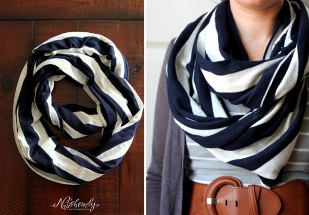Northernly striped infinity scarf.