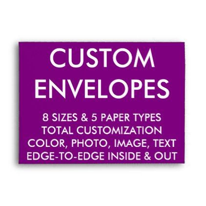 Custom Personalized A Envelope Blank X Card  Template