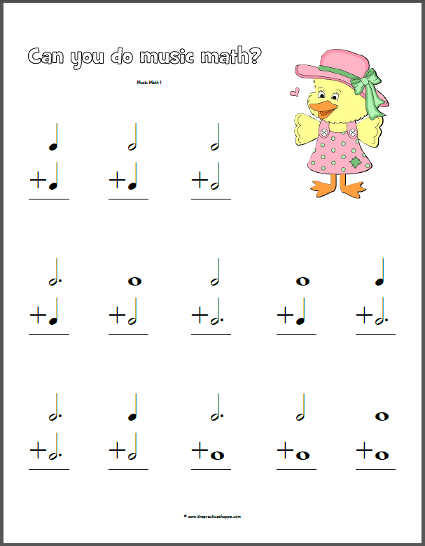 Music Math Worksheets Delibertad Music Related Music