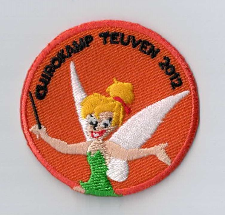 Do you know Tinkerbel? This patch is so fairylike! Every youth movement should have a patch like this as a camp memory. You can simply sew or iron it on your uniform. Upload your own design on ibadge.com!