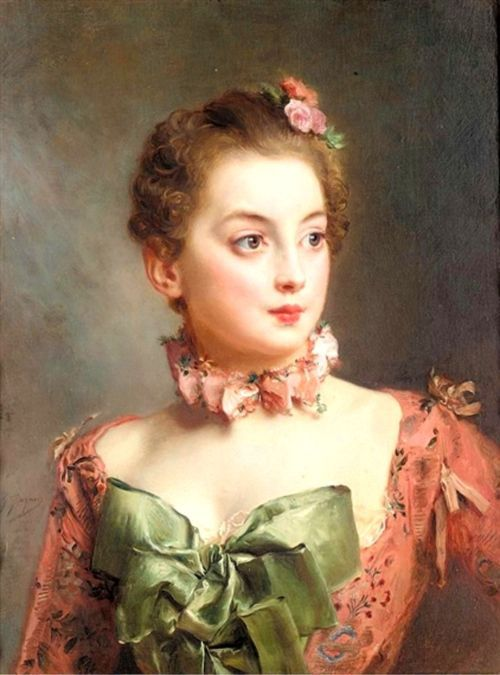 monsieurleprince: Gustave Jean Jacquet Portrait of a lady