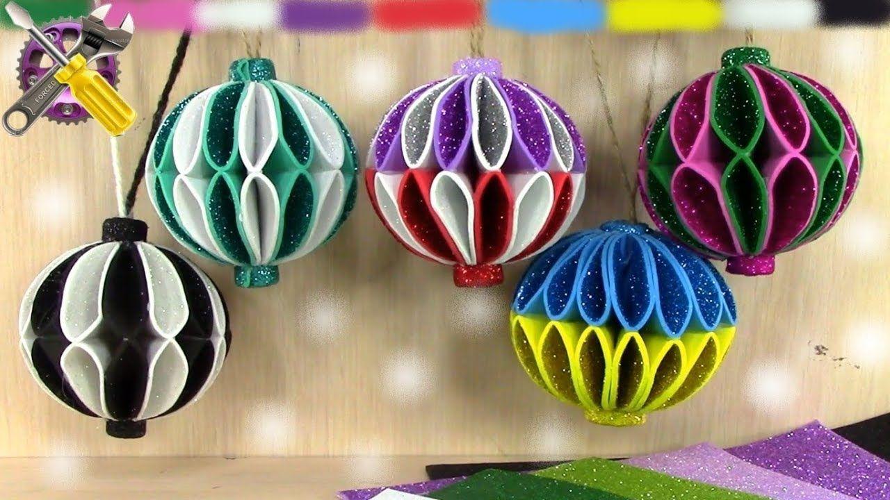 Diy Christmas Ornaments Glitter Foam Gÿœ Christmas Decorationsa Christmas Ornaments Diy Christmas Ball Foam Christmas Ornaments Diy Christmas Tree Ornaments