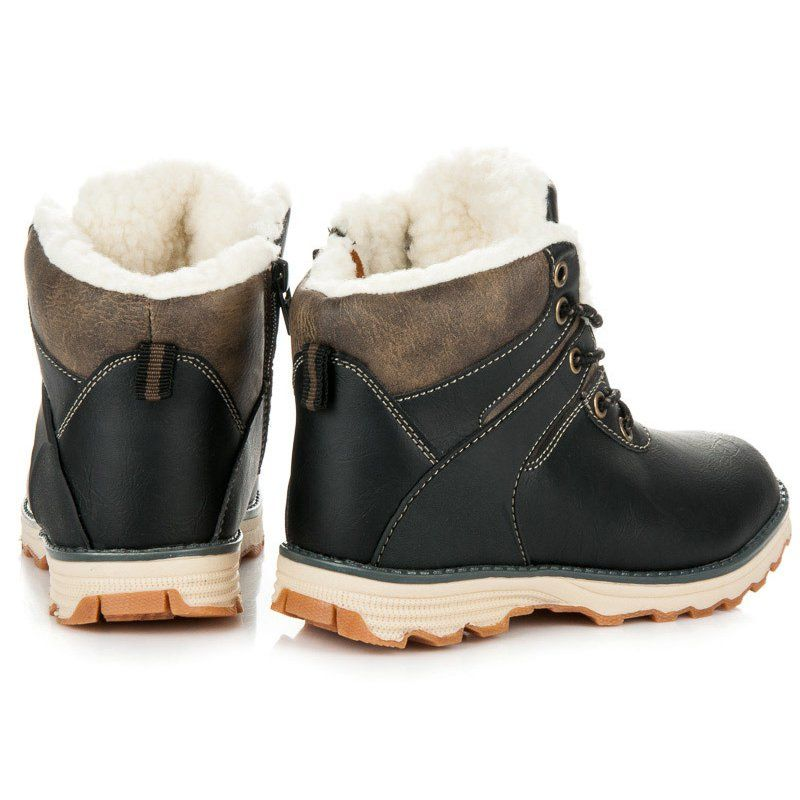 Apakowa Children Shoes Pu Leather Waterproof Boots Kids Snow Boots Toddler Girls Boys Rubber Boots Fa Rubber Boots Fashion Toddler Girl Shoes Boys Rubber Boots