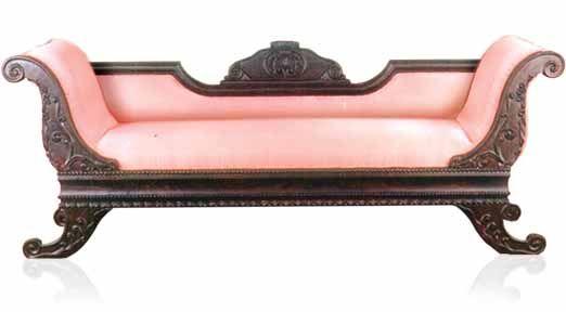 Antique pink divan dream home pinterest for Vintage divan sofa