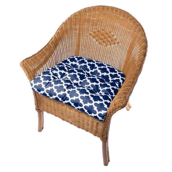 Terrific Fulton Ogee Navy Blue Indoor Outdoor Dining Chair Pads Ibusinesslaw Wood Chair Design Ideas Ibusinesslaworg