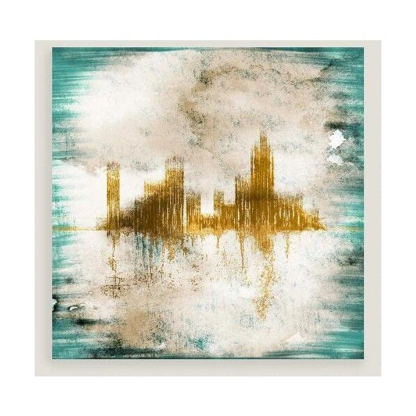 Cost Plus World Market Abstract Cityscape Wall Art ($100) ❤ liked ...
